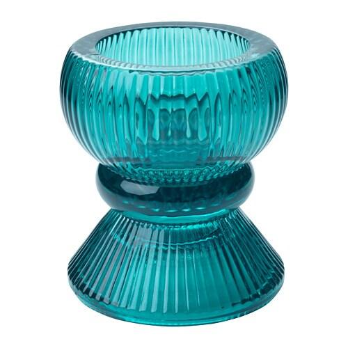 VINTER 2018 Tealight holder, blue/green