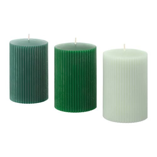 VINTER 2018 Unscented block candle, green