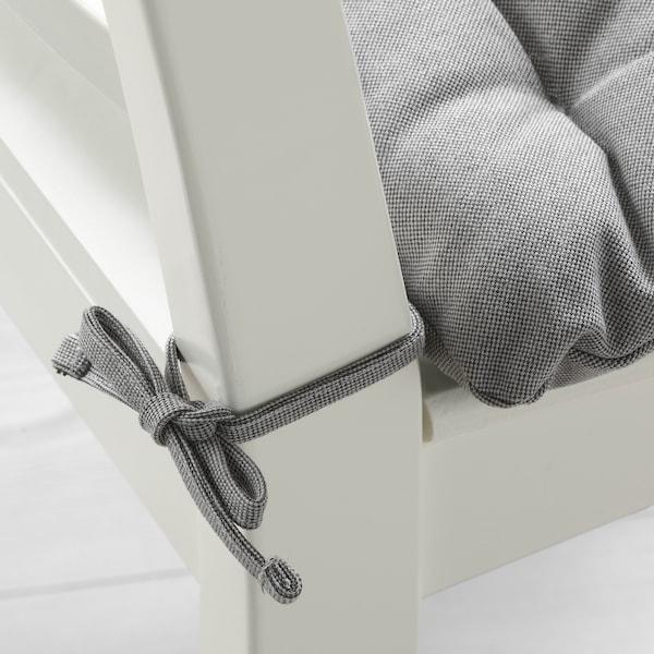 VIPPÄRT وسادة كرسي, رمادي, 38x38x6.5 سم