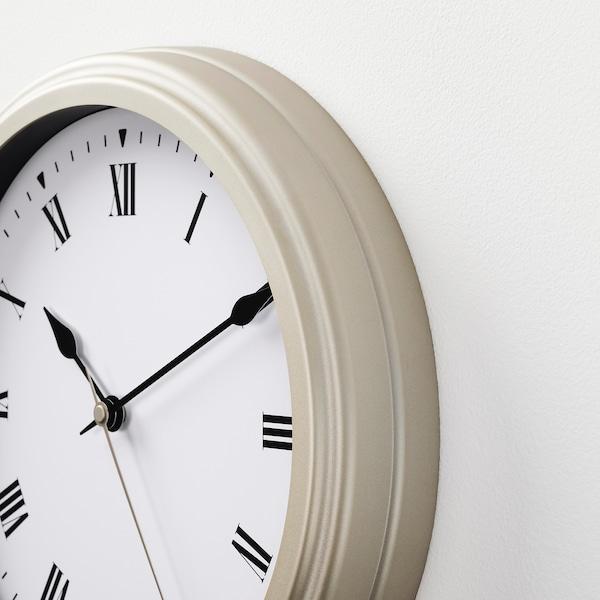 VISCHAN ساعة حائط, بيج, 30 سم