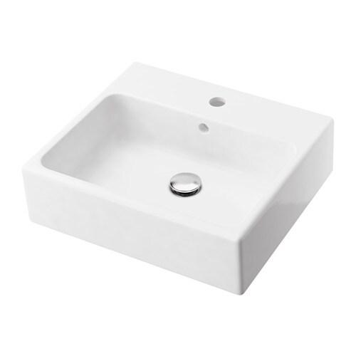 YDDINGEN Single wash-basin, white