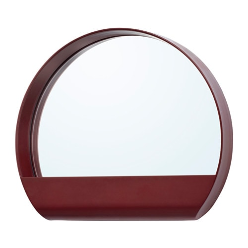 YPPERLIG Mirror, dark red