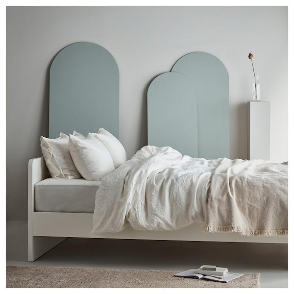 ASKVOLL Estructura de llit, blanc/Lönset, 140x200 cm