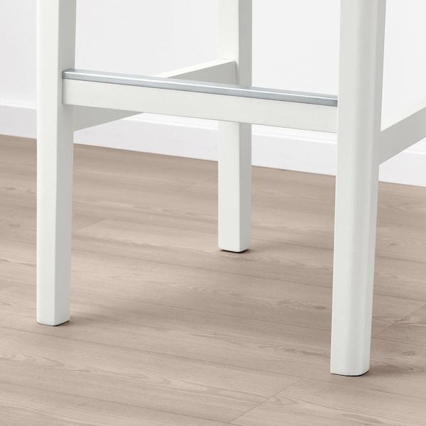 BERGMUND Tamboret alt amb respatller, blanc/Inseros blanc, 75 cm