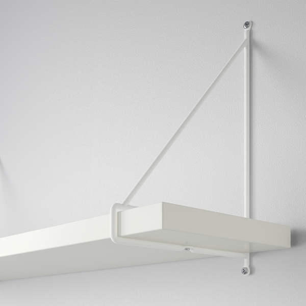 BERGSHULT / PERSHULT Prestatge de paret, blanc/blanc, 120x20 cm
