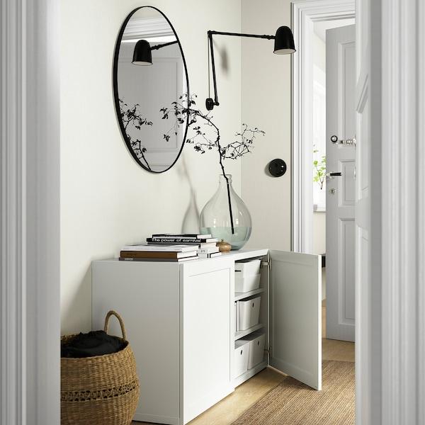 BESTÅ Emmagatzematge amb portes, blanc/Hanviken blanc, 120x42x65 cm