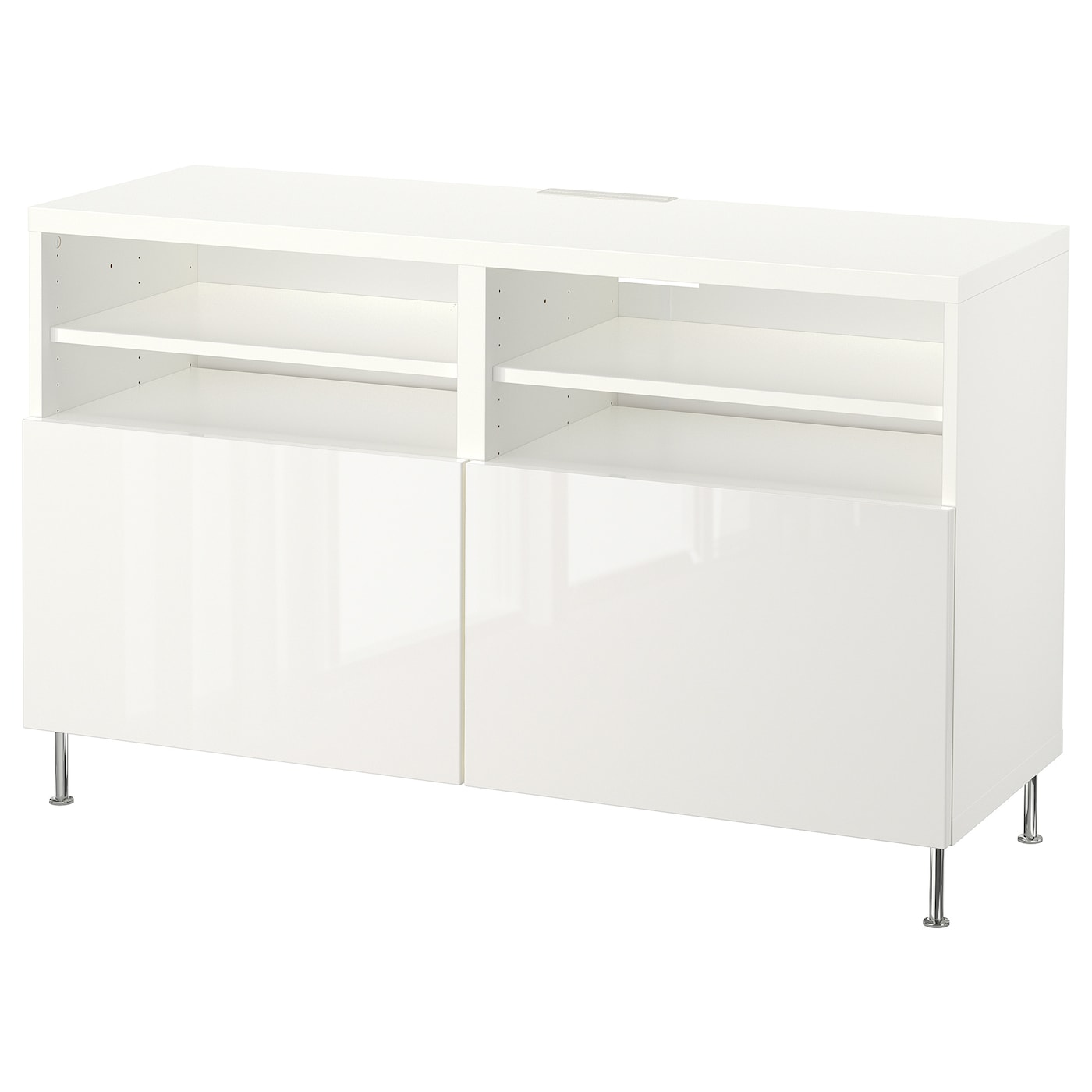 Moble de TV+portes, blanc/Selsviken/Stallarp alta lluentor/blanc