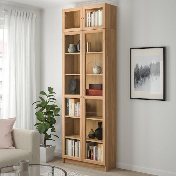 BILLY / OXBERG Llibreria, fullola de roure, 80x30x237 cm