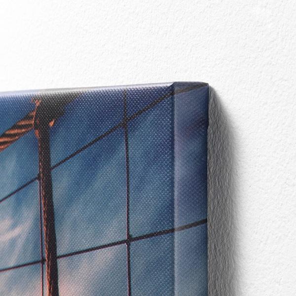BJÖRKSTA Làmina amb marc, Ballarí girant/Negre, 78x118 cm