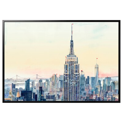BJÖRKSTA Làmina amb marc, Hivern a NY/Negre, 200x140 cm