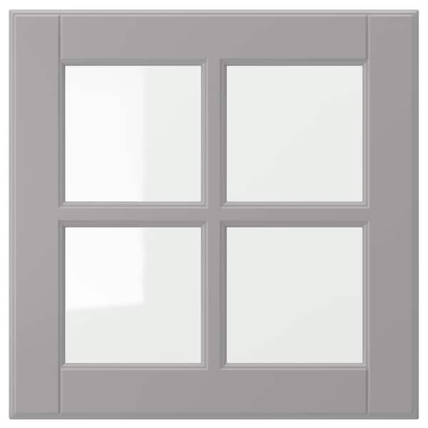 BODBYN Porta de vidre, gris, 40x40 cm