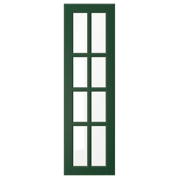 BODBYN Porta de vidre, verd fosc, 30x100 cm