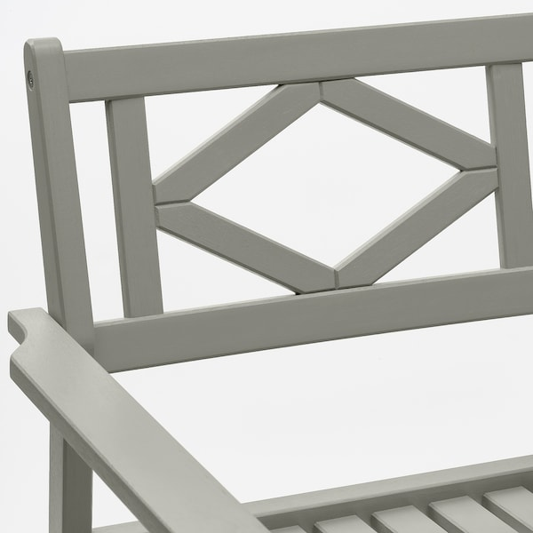 BONDHOLMEN Taula+2 cadires amb braços, ext, tint gris/Frösön/Duvholmen gris fosc
