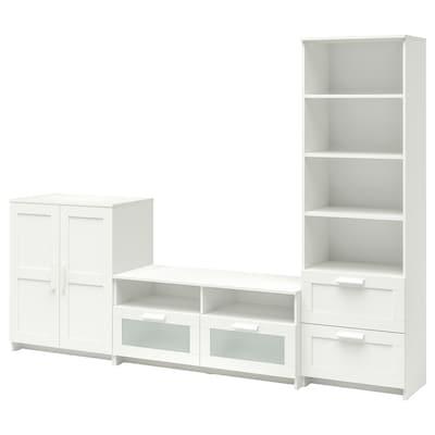 BRIMNES Combinació de moble de TV, blanc, 258x41x190 cm