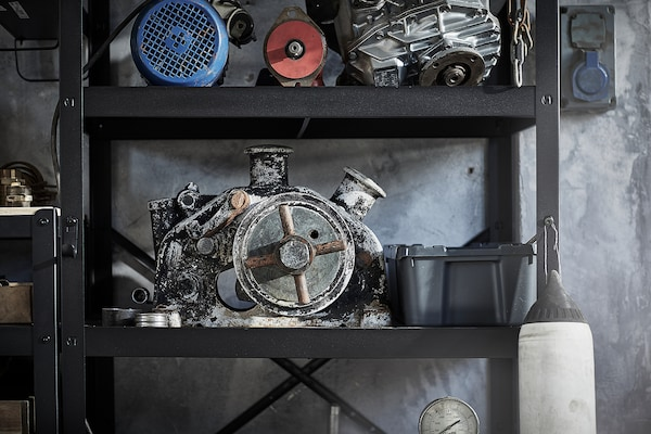 BROR Prestatgeria, Negre, 85x55x190 cm