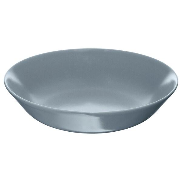 DINERA Plat fondo, blau grisenc, 22 cm