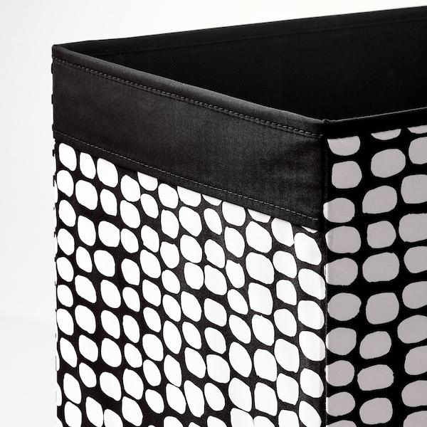 DRÖNA Caixa, Negre/blanc, 33x38x33 cm