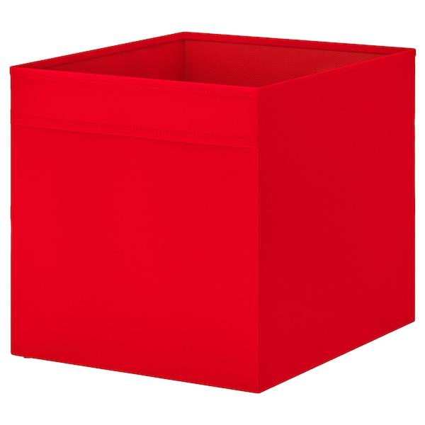 DRÖNA Caixa, vermell, 33x38x33 cm