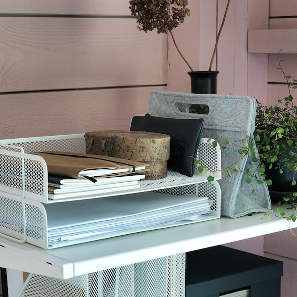 DRÖNJÖNS Safata per correspondència, blanc