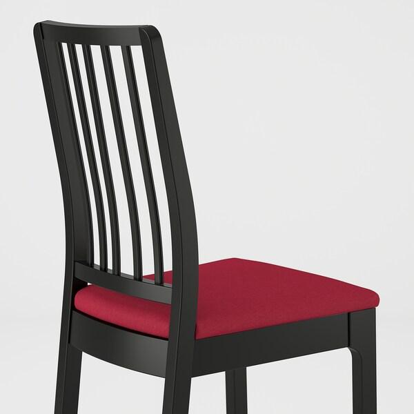 EKEDALEN Cadira, Negre/Orrsta vermell