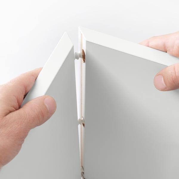 EKET Armari de paret amb vitrina, efecte roure tenyit blanc, 35x25x35 cm
