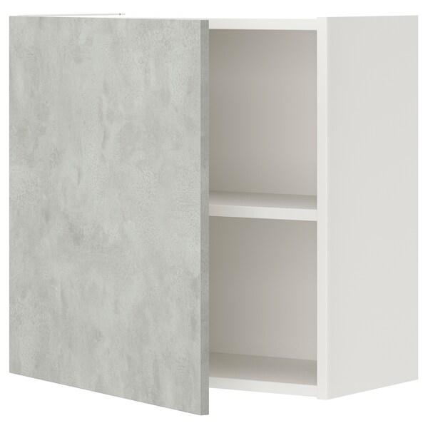 ENHET Ap 1llx/pt, blanc/efecte ciment, 60x30x60 cm