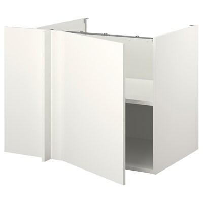 ENHET Armari baix cantoner, blanc/blanc, 127x69x75 cm