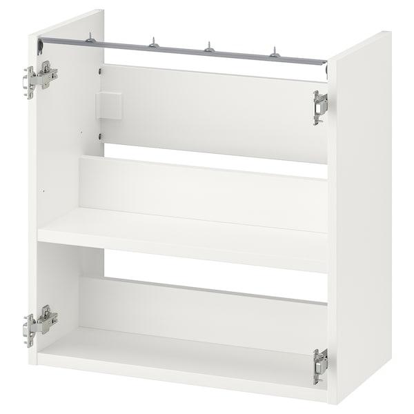 ENHET Armari/lavabo amb lleixa, blanc, 60x30x60 cm
