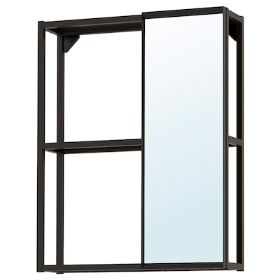 ENHET Armari mirall, antracita, 60x15x75 cm