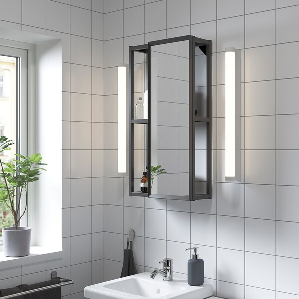 ENHET Armari mirall, antracita, 40x15x75 cm