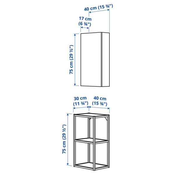 ENHET Combi emmagatzematge paret, antracita/blanc estructura, 40x30x150 cm