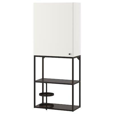 ENHET Combi emmagatzematge paret, antracita/blanc, 60x32x150 cm