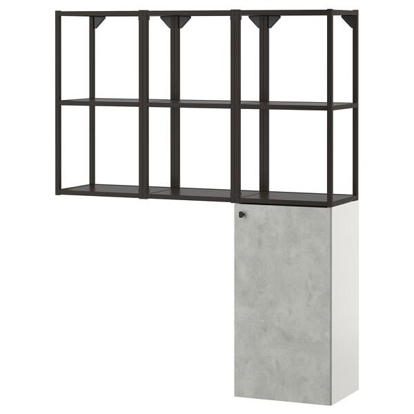 ENHET Combinació per a la bugada, antracita/efecte ciment, 120x32x150 cm