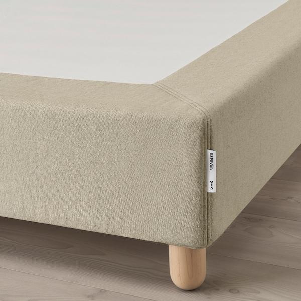 ESPEVÄR Somier làmines+potes, natural, 140x200 cm