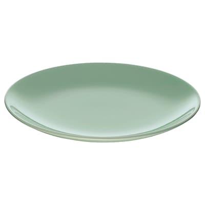 FÄRGRIK Plat petit, verd clar, 21 cm