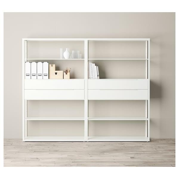 FJÄLKINGE Prestatge amb calaixos, blanc, 236x35x193 cm