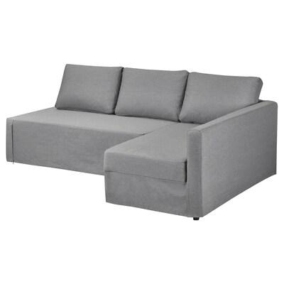FRIHETEN Funda protectora sofà raconer, dre, Vissle gris