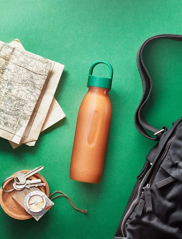FRUKTSTUND Barreja batut, taronja/pastanaga amb gingebre i xili/congelat, 420 g
