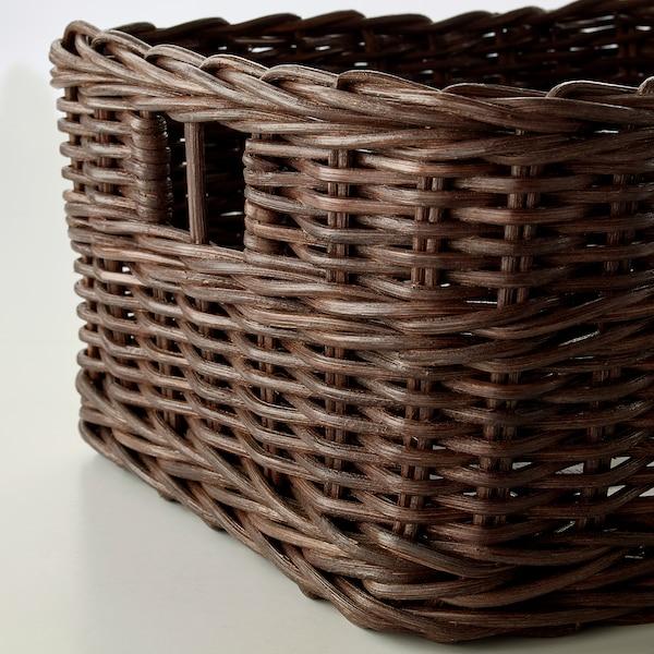 GABBIG Cistell, marró fosc, 25x29x15 cm