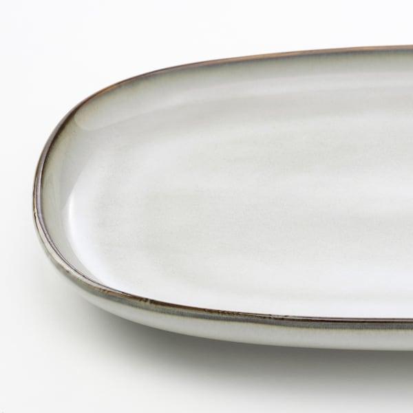 GLADELIG Plat, gris, 20x13 cm