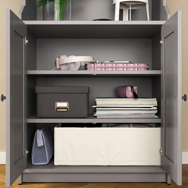 HAUGA Combinació emmagatzematge, gris, 139x46x199 cm