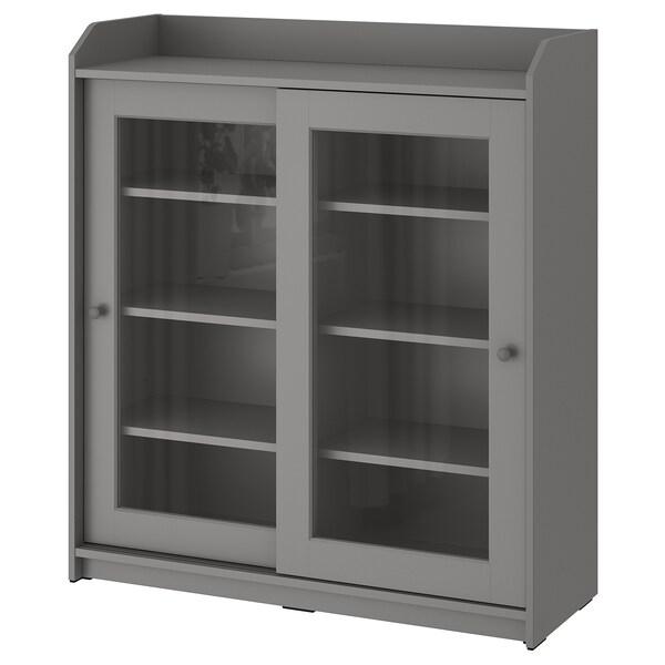 HAUGA Vitrina, gris, 105x116 cm