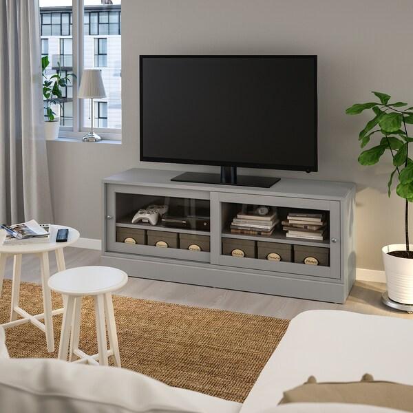 HAVSTA Moble de TV amb sòcol, gris, 160x47x62 cm