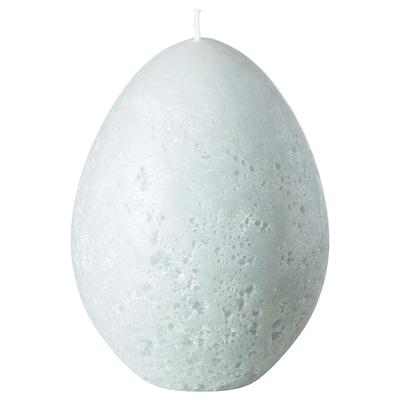 HEMBYGD Espelma gran sense perfum, ovalat/gris, 11.5 cm