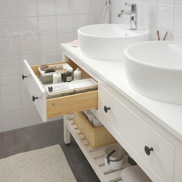HEMNES Moble lavabo obert 2 calaixos, blanc, 122 cm