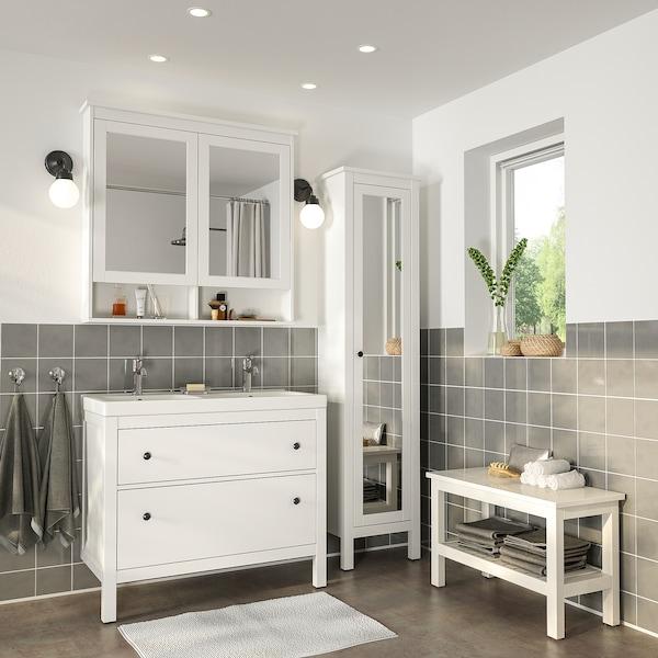 HEMNES / ODENSVIK Mobles de bany, joc de 6, blanc/aixeta Voxnan, 103 cm