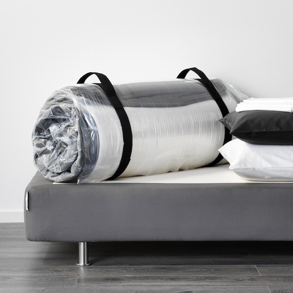 HÖVÅG Matalàs molles embossades, ferm/gris fosc, 150x190 cm