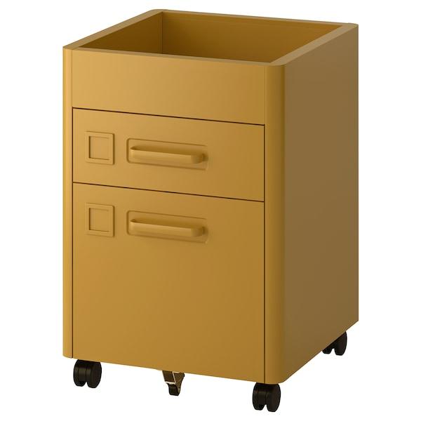 IDÅSEN Calaixera amb tancament, marró daurat, 42x61 cm
