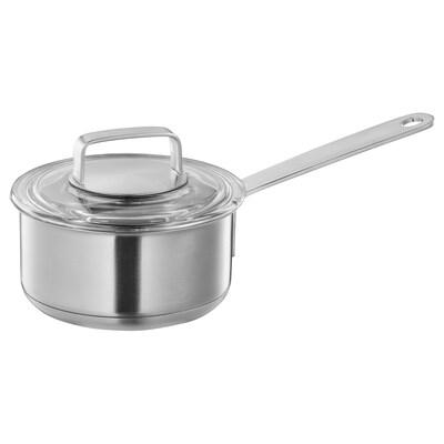 IKEA 365+ Cassó amb tapa, acer inoxidable/vidre, 1 l