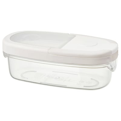 IKEA 365+ Pot amb tapa, transparent/blanc, 0.3 l